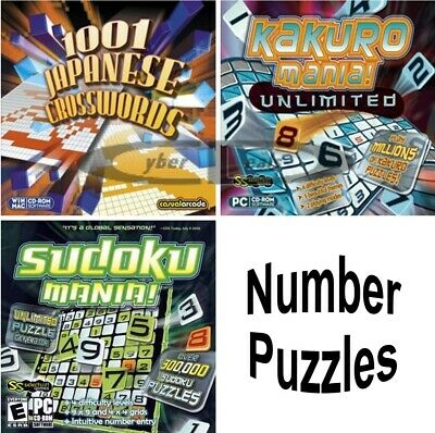 Challenging Addictive Number Puzzles Games PC Windows XP Vista 7 8 10 Sealed New
