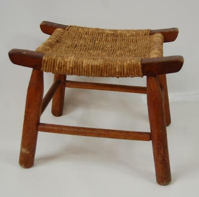 Vintage Handcrafted Appalachian  Woven Cane Stool