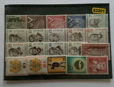 Germany BERLIN Complete Year 1957 Stamp Set Mint Never Hinged MNH German Stamps