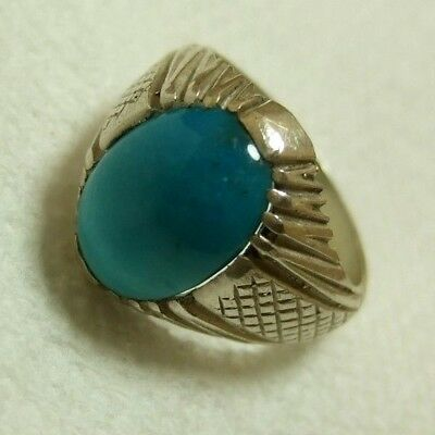 Natural Native Persian Turquoise 925 Silver men ring 8.13-gm size us:9.75