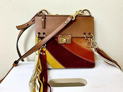 09d9dafc978 CHLOE BROWN MULTICOLOR Leather and Suede Small Drew Bag - $1,130.00 ...
