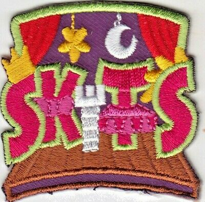 """Skits"" - Iron On Embroidered Patch - Acting - Games - Stage - Actor"