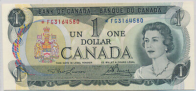 Bank Of Canada Replacement 1 Dollar 1973 *Fg3164580 - Unc