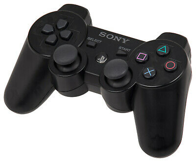 Sony Playstation 3 (PS3) Dualshock 3 Sixaxis Wireless Controller Black