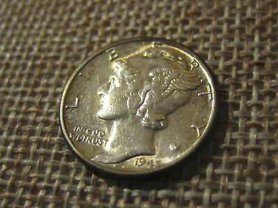 1945 10C Mercury Dime TONED