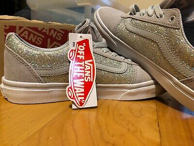 dde12c4b246205 VANS SNEAKERS GIRLS Gray With GLITTER SIZE 5 Brand New Ward Low Top Micro  Knit