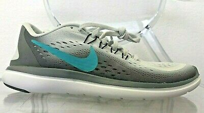 2a085177bf2 Women s Nike Flex 2017 RN Running Shoes 898476 007 Pure Platinum Clear Jade  ...