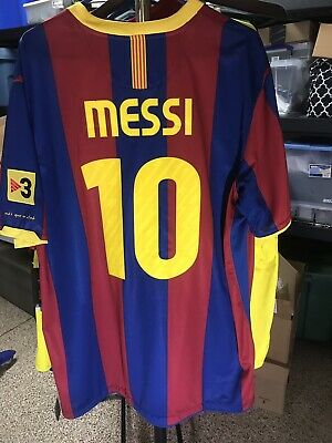 Nike 2010 2011 Lionel Messi FC Barcelona Home Shirt Jersey Maillot XXL Very  Nice 33c151c3e76