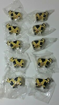 Macrame Wooden Cows Lot of 10 Wood Beads Use with Maxi-Cord New FREE SHIPPING