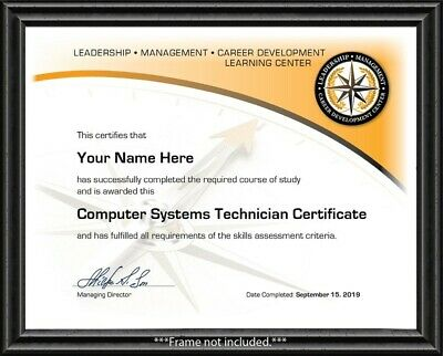 Computer Systems Technician Tech Training Course Certificate IT NETWORK SUPPORT