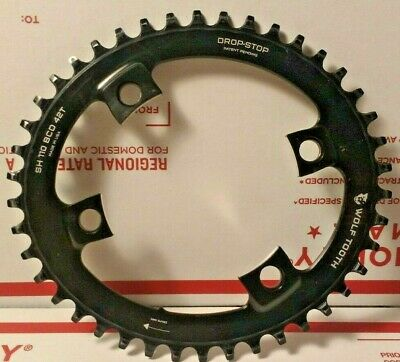 Wolf Tooth Components Powertrac Elliptical Drop-Stop Chainring Bl 42 x 110 BCD