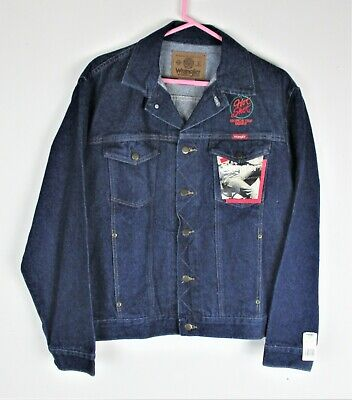 a6e7158bb51 Wrangler Unlined Denim Jacket with LOGO- NEW W  TAGS - Sz Large