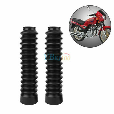 2 Units Universal Motorcycle Rubber Front Fork Cover Gaiters Gators Boots