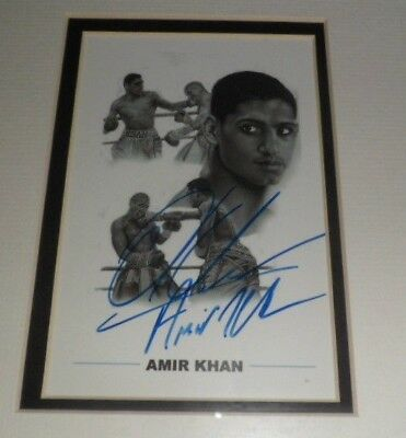 "ORIGINAL Signature AMIR KHAN BOXING Hand Signed Photograph 6"" x 4"" Mounted"