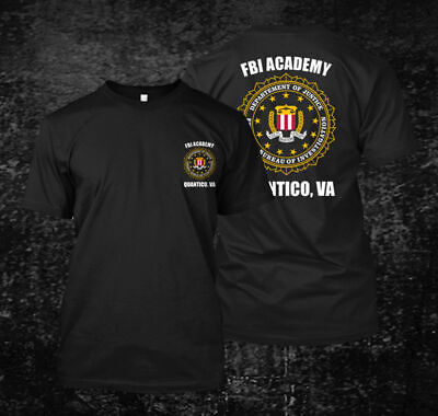 FBI Academy Quantico Men's Black T-Shirt