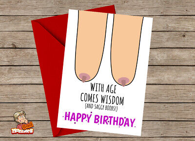 Rude Funny Crude Naughty Birthday Card For Women 40th 50th 60th 70th