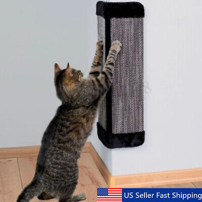 19'' Cat Wall Corner Hanging Scratching Board Mat Kitten Post Toy Pet Supplies