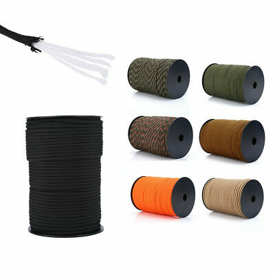 100m 550 Paracord Parachute Cord Rope Lanyard 9Strand Core Survival Army outdoor