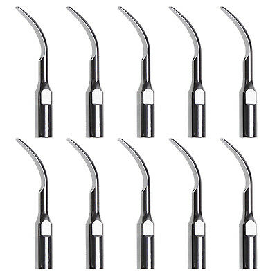 10X Dental Ultrasonic Scaler Tips Scaling GD2 Fit DTE Satelec Handpiece UK NEW
