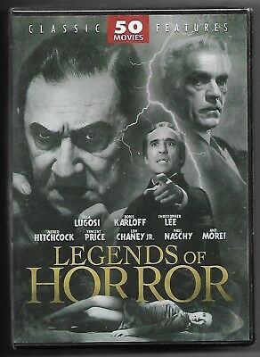 Legends of Horror (OOP 2009 DVD - Classic Features 50 Movie set - Factory Sealed