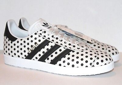 NEW ADIDAS X The Farm GAZELLE WOMENS 7.5 10 White Black