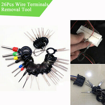26Pcs Car Wire Terminal Removal Tool Disassemble Auto Connector Single Dual Pins