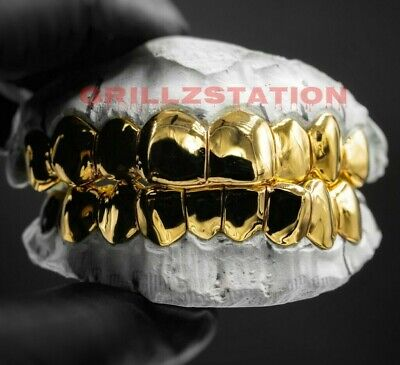 Custom Permanent Cut Gold Grillz By Grillzstation