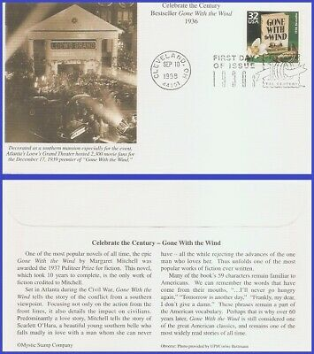 US #3185i U/A MYSTIC FDC   1930 Gone With the Wind