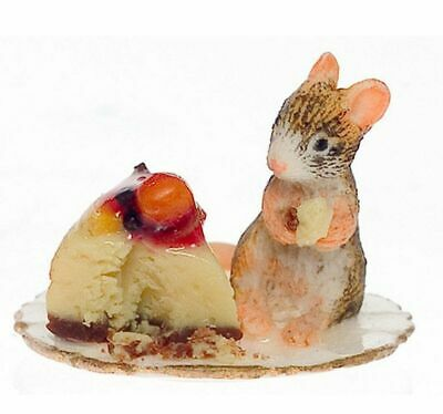 Dollhouse Miniature 1:12 Scale Adorable Mouse with a Slice of Cake by Falcon ...