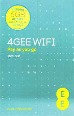 EE 4G Mobile Broadband Data SIM preloaded with 6GB lasting 90 days