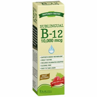 2 PACK NATURE'S Truth Sublingual B 12 10000mcg Berry Flavor
