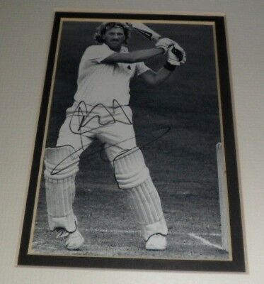 "ORIGINAL Signature SIR IAN BOTHAM CRICKET Hand Signed Photograph 6"" x 4"" Mounted"
