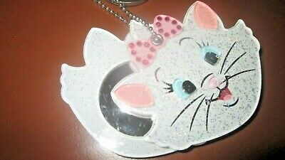 "Disney Parks ""Marie"" from The Aristocats Sparkly Keychain w/ Mirror NWOT"