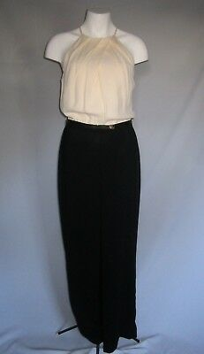 f6c6c6bcf28 FAB Ted Baker ANNAA Jumpsuit Cream Black All in One Wedding Races size 1