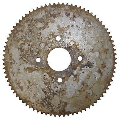"""80T (tooth) #35 Chain Sprocket 3-1/2"""" Bolt Circle Go-Kart Off Road Cart Gear"""
