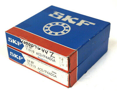 New Set Of Skf 71919 Acd/P4Adga Precision Ball Bearings