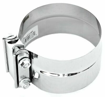 """exhaust clamp 5"""" I.D./O.D. preformed stack clamp stainless steel Peterbilt KW"""