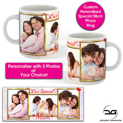 Custom Personalised Special Mum Photo Coffee Mug Cup Birthday Mothers Day Gift