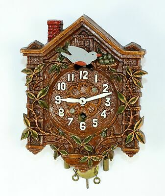 Lux Novelty Cuckoo Clock With Grey Bird - Tb58