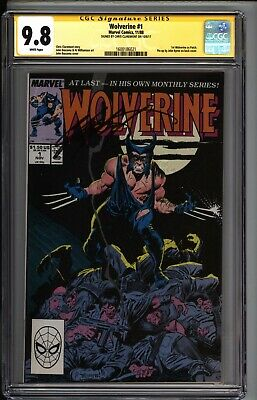 * WOLVERINE #1 (1988) CGC 9.8 SS Signed Claremont 1st Patch! (1600186021) *