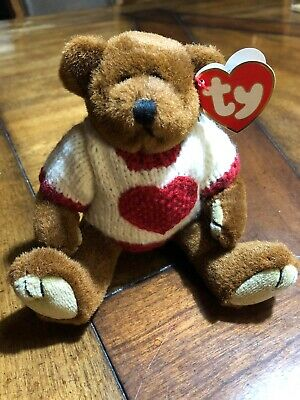 c114992fbd8 1993 Ty Attic Treasures Beanie Babies CASANOVA Bear Jointed w tags (8 inch)