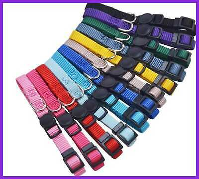 12 Pcs/Set Soft Nylon Puppy ID Collar Adjustable Breakaway Whelping Litter Colla