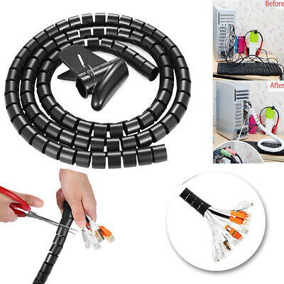 2M Spiral Cable Hide Wrap Tube Organizer Wire Flexible Cord Wrap Accessory Tool