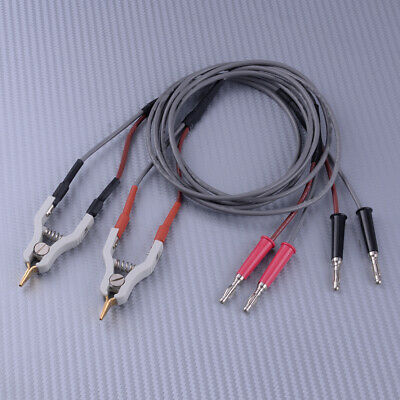 High Quality 4 Wires Type Microresistivity Test Lead Cable With 2 Kelvin Clip