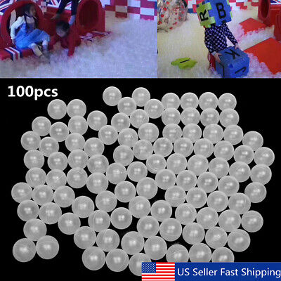100Pcs 7cm Clear Ocean Ball Soft Plastic Baby Kids Game Swim Pool Pit Funny Toy