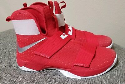 be1cd8289ee Nike LeBron Soldier 10 TB Team Red Basketball 856489-663 Men s Size 17.5