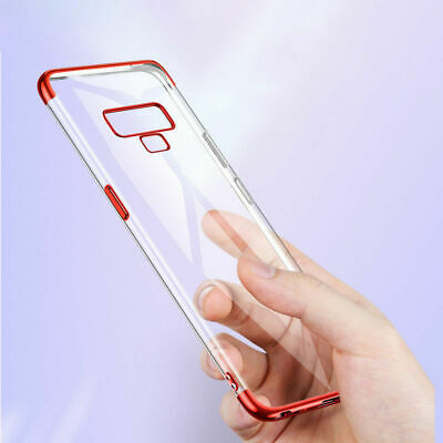 Plating Soft Silicone Hybrid Clear Case Cover For Samsung Galaxy Note S9 S8 +