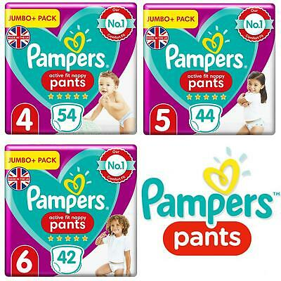 Pampers Premium Protection Baby Nappy Pants Stretchy Diaper Size4 5 6 Jumbo Pack