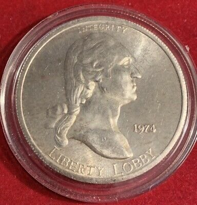 1974 Liberty Lobby One Silver Eagle One Troy Ounce  999 Fine Silver Round,
