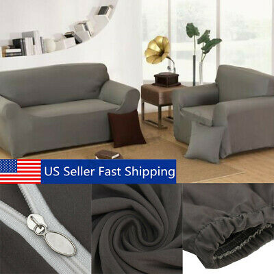 1 2 3 4 Seater Stretch Slipcover Chair Loveseat Sofa Couch Protect Elastic Cover